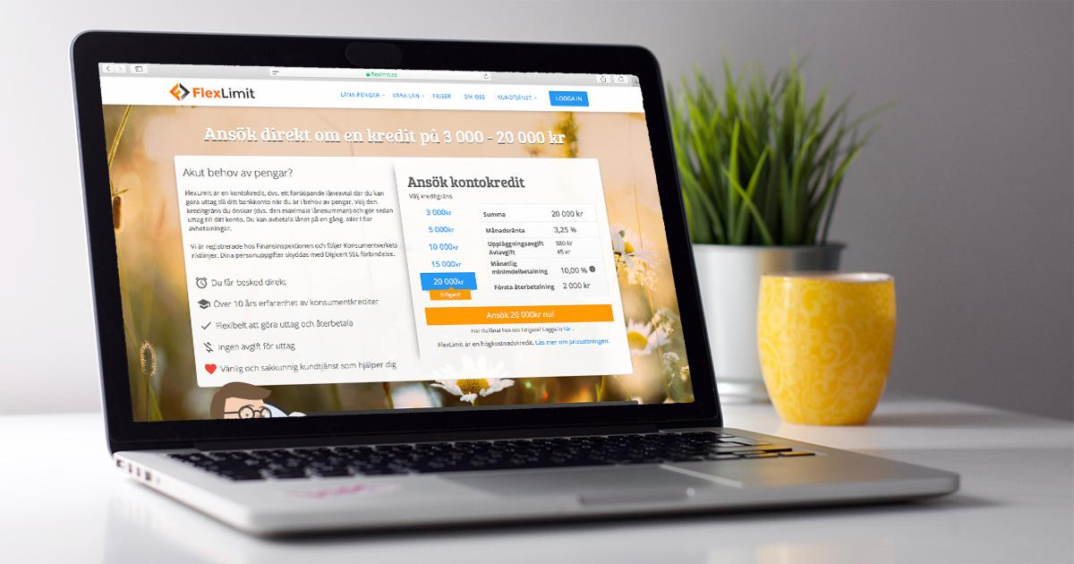 Ansok om kreditlån via datorn eller mobilen