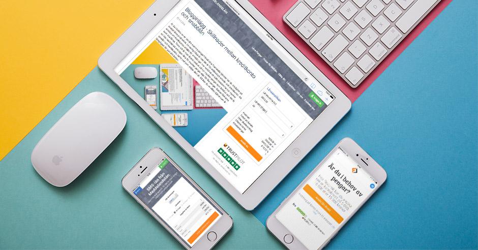 Meddelandelån blogginlägg kreditkonto smslån snabblån