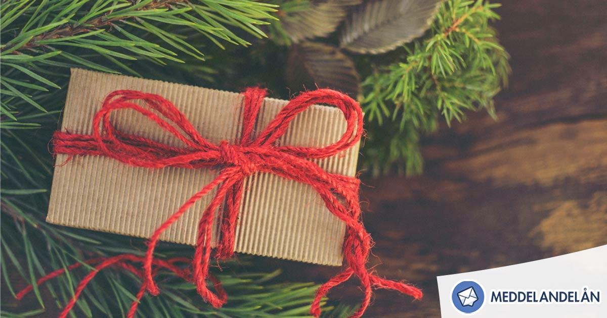 Meddelandelån jul budget sparande