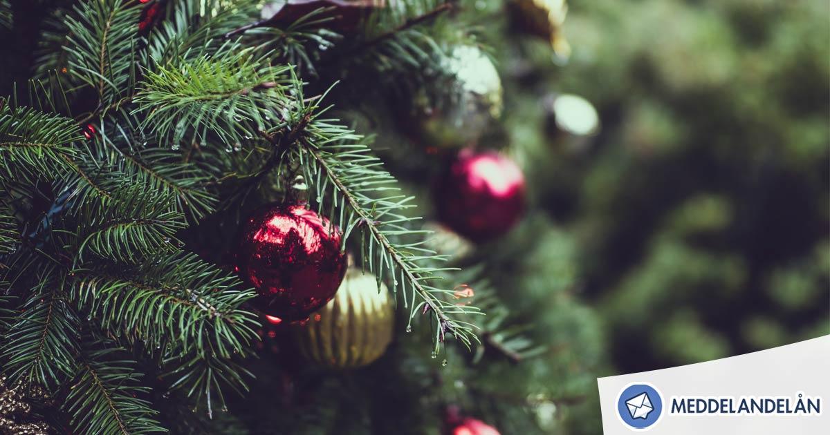 Meddelandelån jul öppettider