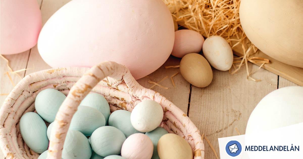 Meddelandelån påsk påskägg