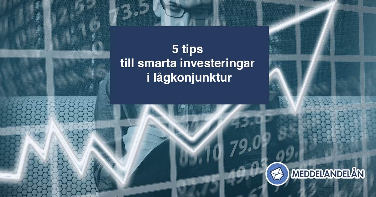 Meddelandelån aktier investera ekonomi lågkonjunktur