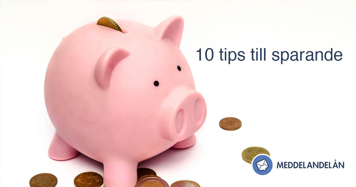 10 tips till personlig ekonomi spara pengar meddelandelan