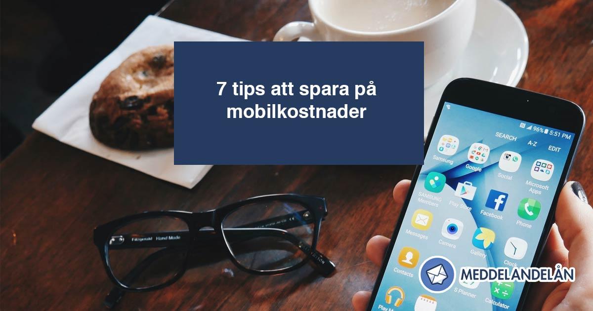 spara mobilkostnader 7 tips mobiltelefon kaffe