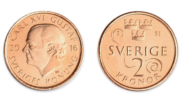 Sedelbytet i Sverige Meddelandelån 2 krona
