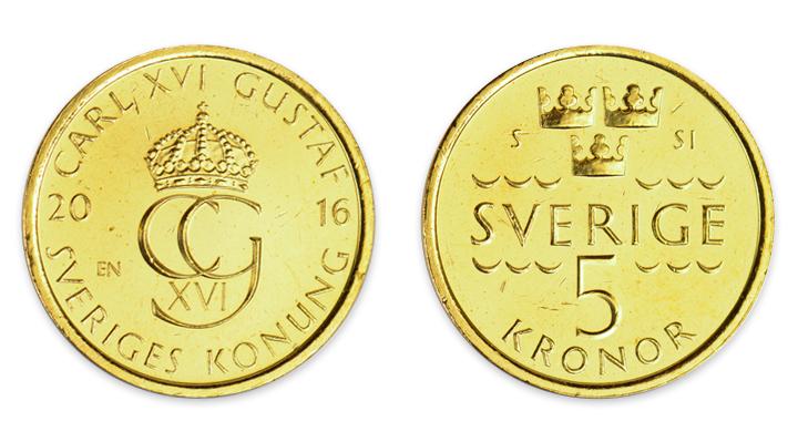 Sedelbytet i Sverige Meddelandelån 5 krona